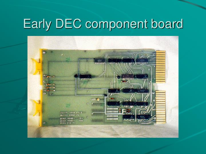 Early DEC component board