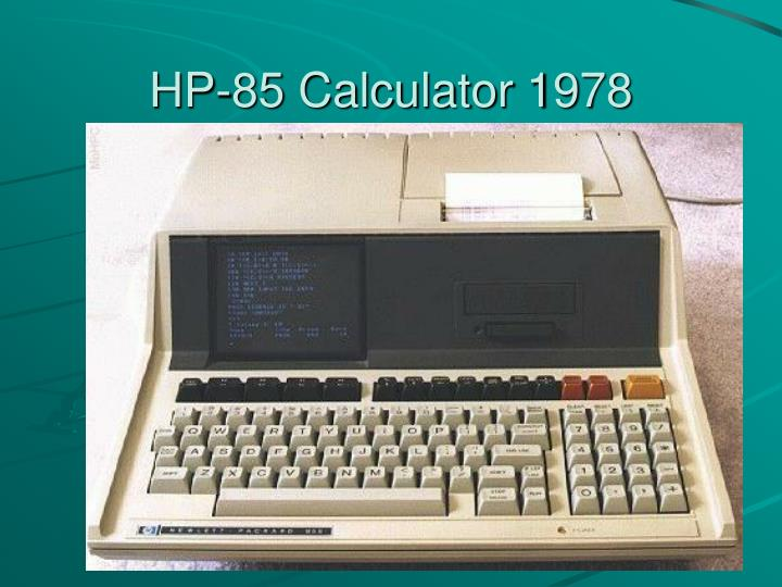 HP-85 Calculator 1978