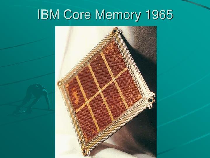 IBM Core Memory 1965