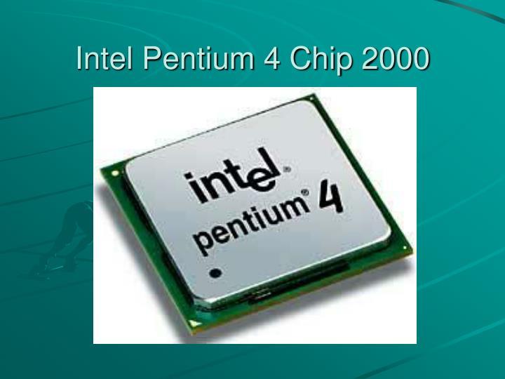 Intel Pentium 4 Chip 2000