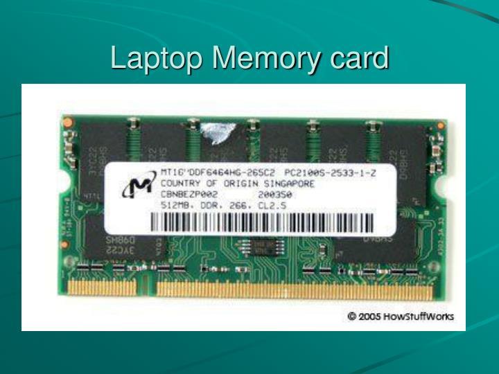 Laptop Memory card