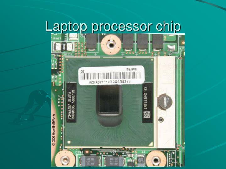 Laptop processor chip