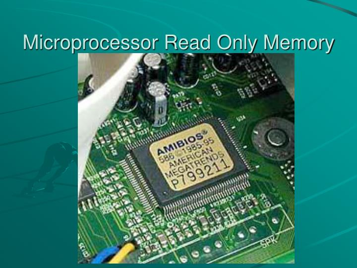 Microprocessor Read Only Memory