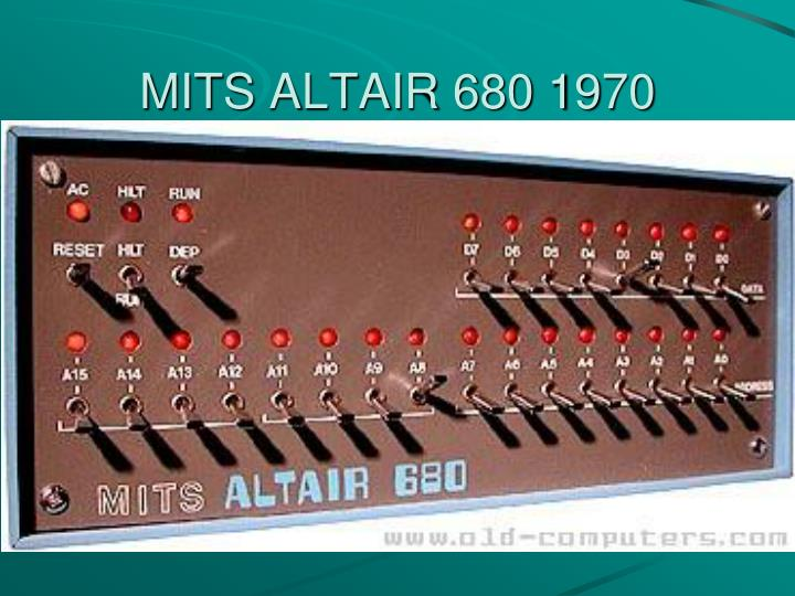 MITS ALTAIR 680 1970