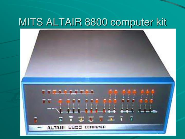 MITS ALTAIR 8800 computer kit