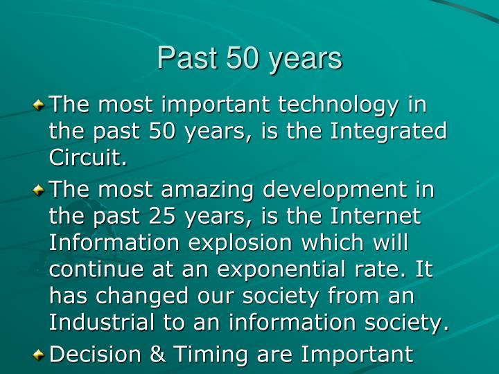 Past 50 years