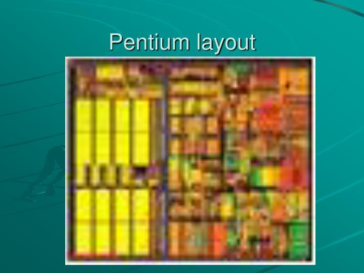 Pentium layout