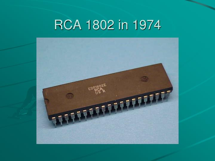 RCA 1802 in 1974