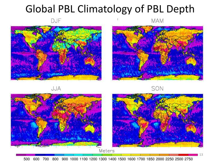 Global PBL Climatology of PBL Depth