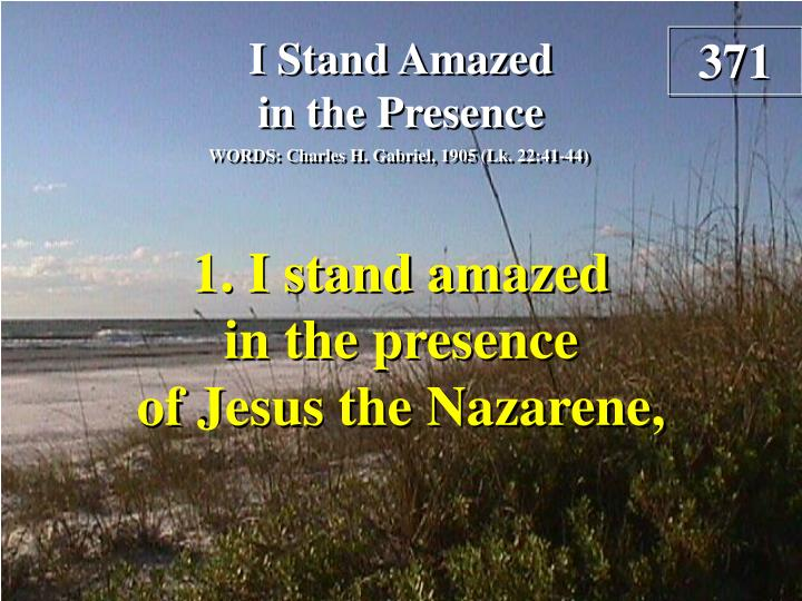 i stand amazed in the presence verse 1 n.