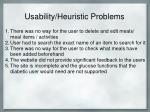 usability heuristic problems