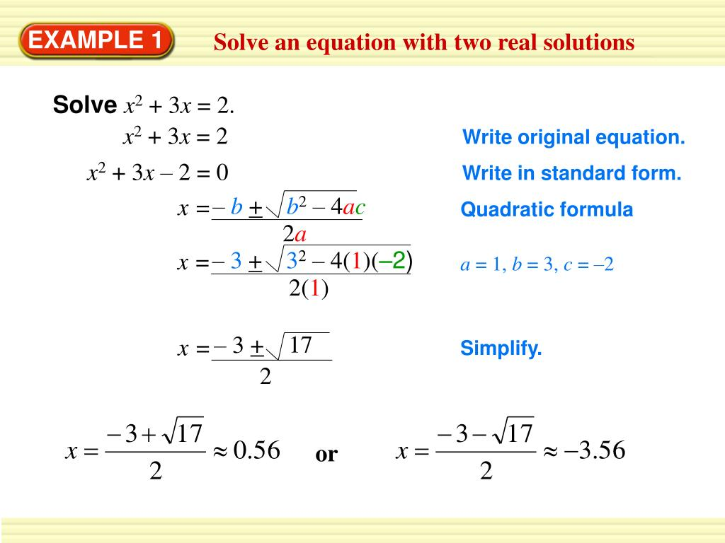 PPT - 1. Write 15 X 2 + 6 X = 14 X 2 – 12 In Standard Form