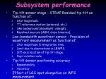 subsystem performance