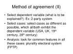 method of agreement ii