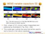mems variable capacitors 5