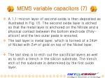 mems variable capacitors 7