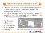 mems variable capacitors 8