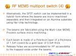 rf mems multiport switch 4