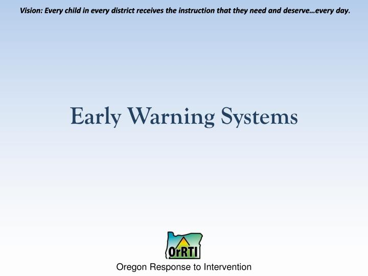 early warning systems n.