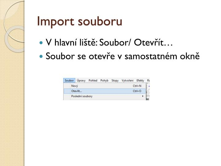 Import souboru