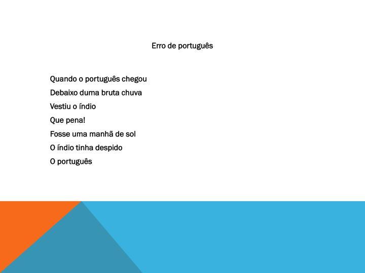 Erro de português