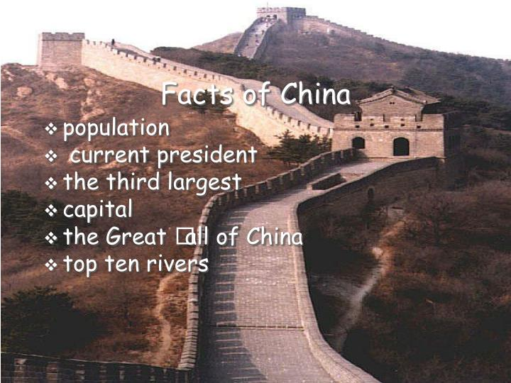 Facts of china