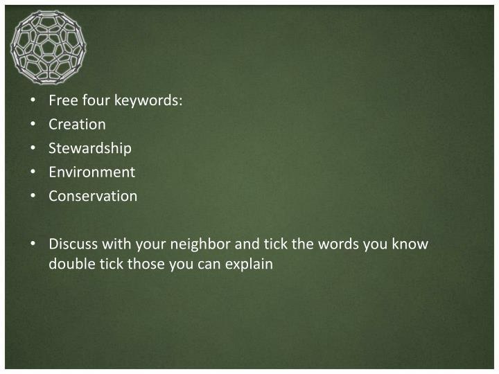 Free four keywords: