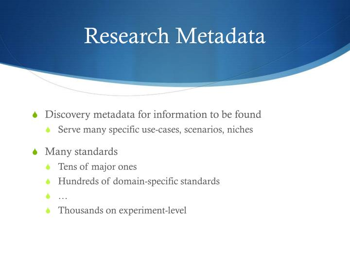 Research metadata