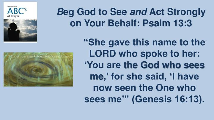 """""""She gave this name to the LORD who spoke to her: 'You are"""