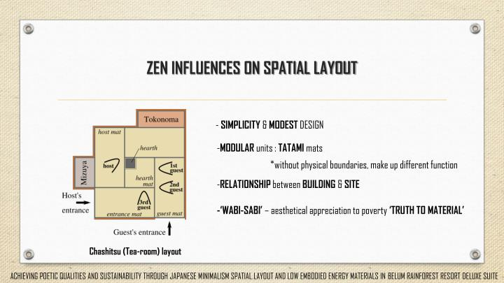 ZEN INFLUENCES ON SPATIAL LAYOUT