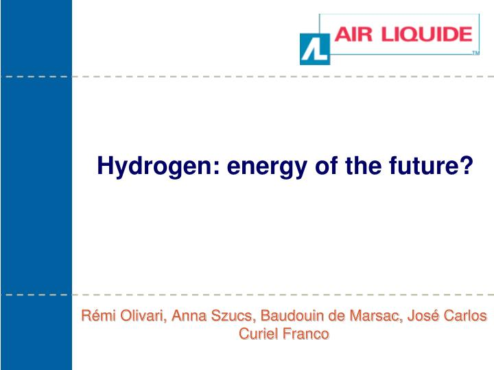 hydrogen energy of the future n.
