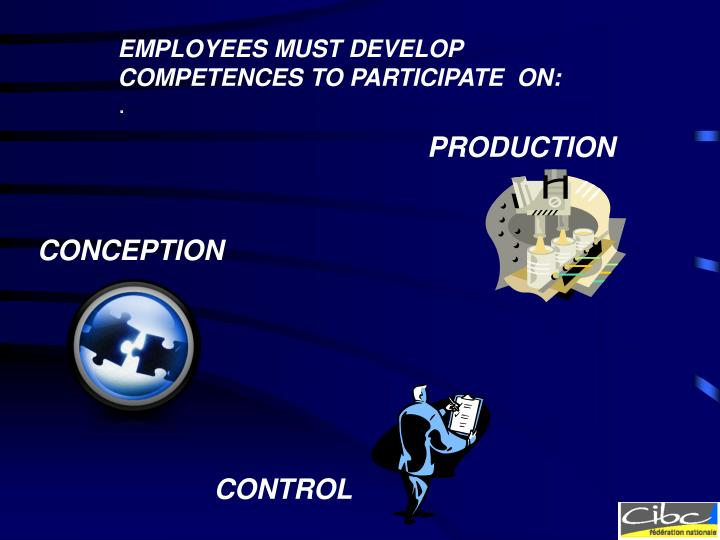 EMPLOYEES MUST DEVELOP COMPETENCES TO PARTICIPATE