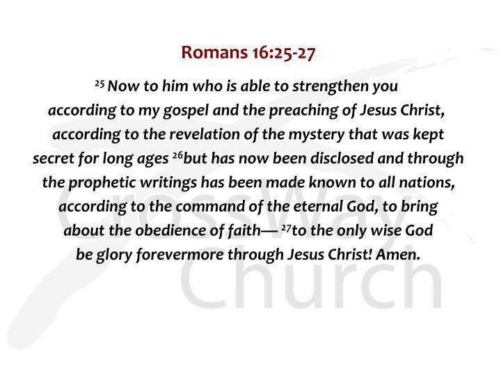 Romans 16:25-27