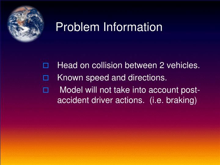 Problem information