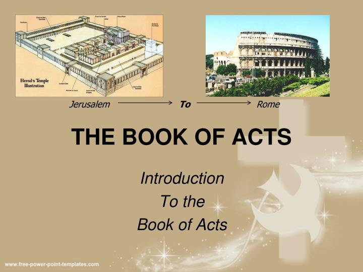 Ppt The Book Of Acts Powerpoint Presentation Free