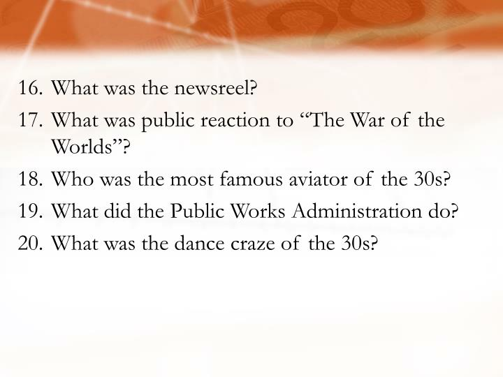 What was the newsreel?