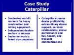 case study caterpillar