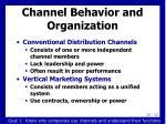 channel behavior and organization1