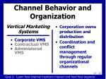 channel behavior and organization2