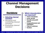 channel management decisions1