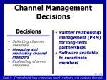 channel management decisions2