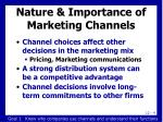 nature importance of marketing channels