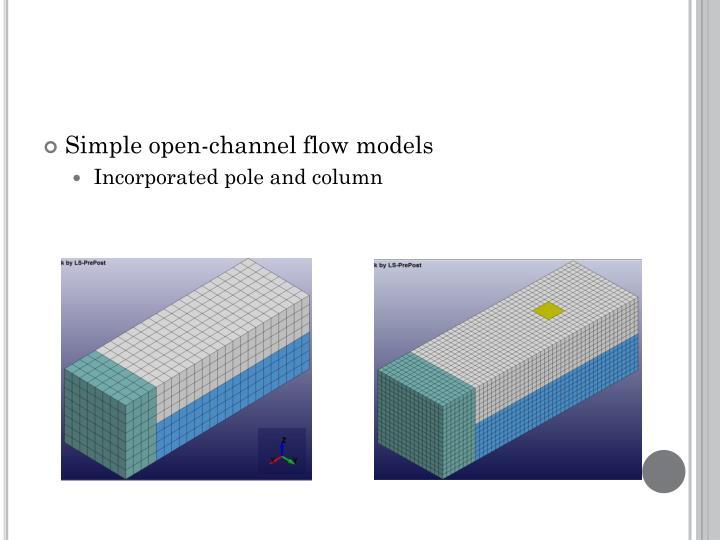 Simple open-channel flow models