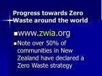 progress towards zero waste around the world