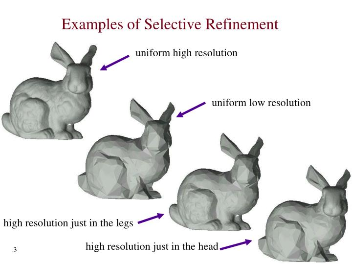 Examples of Selective Refinement