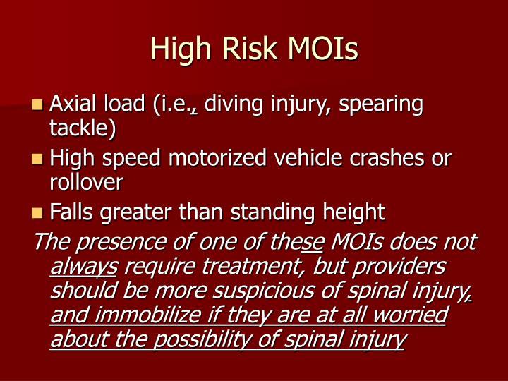 High Risk MOIs