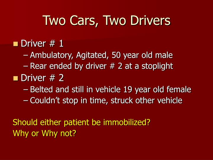 Two Cars, Two Drivers