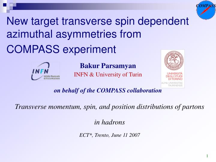 new target transverse spin dependent azimuthal asymmetries from compass experiment n.
