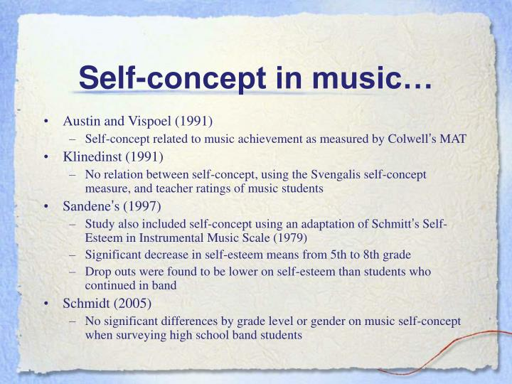 Self-concept in music…