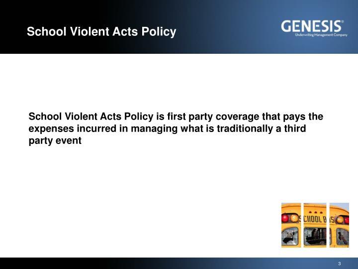 School violent acts policy1